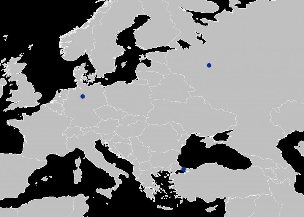 Офисы ЕМСС по всему миру